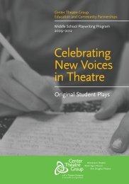 Original Student Plays - Center Theater Group