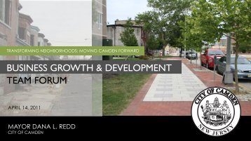 BGDT Forum Presentation - City of Camden