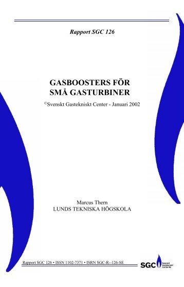SGC Rapport 126 Gasboosters för små gasturbiner