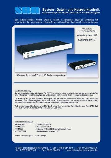 Datenblatt: Hier anklicken - SBH Hesselmann & Co. GmbH