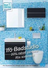 Ifö Badstudio 20% rabatt på hela Ifös sortiment - Gnosjö ...