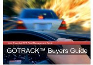 GOTRACK™ Buyers Guide - GPS Vehicle Tracking System