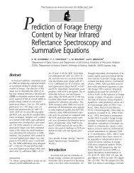 Prediction of Forage Energy Content by Near Infrared Reflectance ...