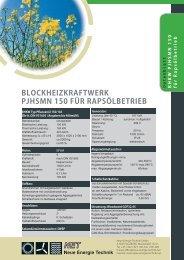 blockheizkraftwerk pjhsmn 150 für rapsölbetrieb - NET - Neue ...
