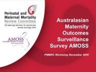 Australasian Maternity Outcomes Surveillance Survey ... - Hqsc.govt.nz