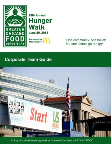 2013 Corporate Team Packet - Greater Chicago Food Depository