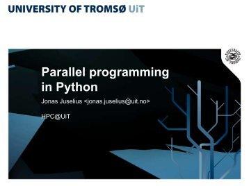 Parallel programming in Python