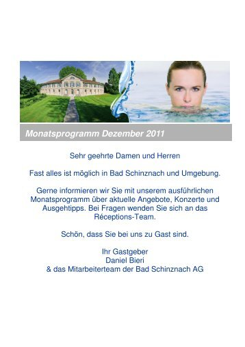 Unterhaltung in der Hotelhalle - Bad Schinznach AG
