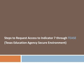 Request Access for - ESC2 Special Education