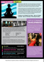 UP & COMING - Activ8 Health and Fitness Clubs