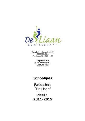 KLIK HIER VOOR DEEL 1 - Basisschool De Liaan