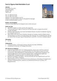 Facts & Figures Hotel Belvédère Scuol - Belvedere Hotels Scuol