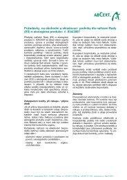 Požadavky na obchodní a skladovací společnosti dle nařízení - ABCert