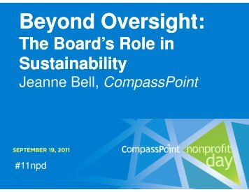 Beyond Oversight: d Oversight: - CompassPoint Nonprofit Services