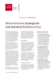Wertorientierte strategische und operative Banksteuerung