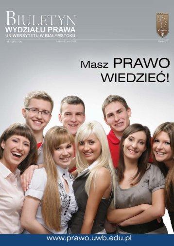 Kwiecień - Maj 2009 - Wydział Prawa Uniwersytetu w Białymstoku