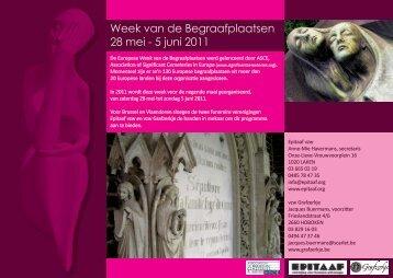 Week van de Begraafplaatsen 28 mei - 5 juni 2011 - Epitaaf