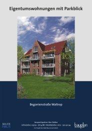 Begonienstraße Parkblick - Bauplan Massivbau GmbH