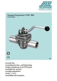 TYPE MG Screwed plug-valve cast design