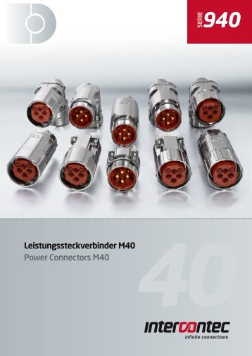 Leistungssteckverbinder M40 Power Connectors ... - Lucob spol. s ro