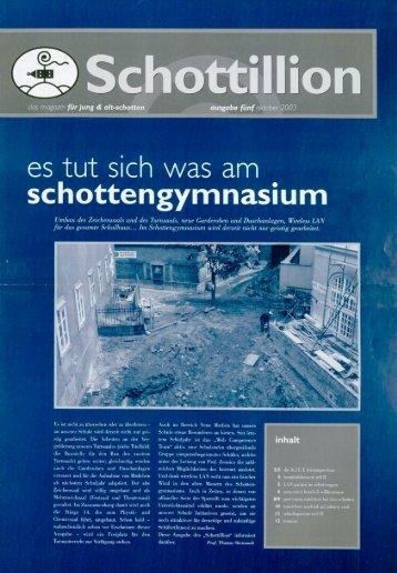 Schottillion Ausgabe Nr. 5 - Alt-Schotten