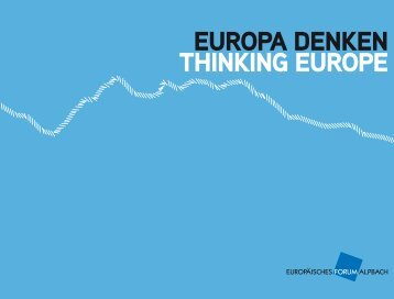 EUROPA DENKEN THINKING EUROPE - efa-network.eu
