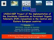UNIDO/GEF Project of the implementation of the Stockholm ...