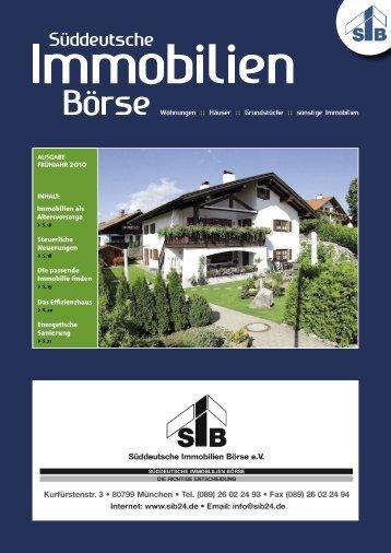 Immobilien als Altersvorsorge Steuerliche Neuerungen Die ...
