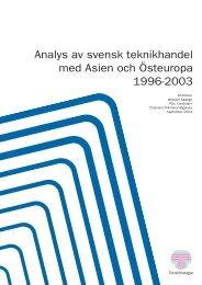 Analys av svensk teknikhandel med Asien och ... - Teknikföretagen