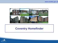 05 - Coventry Homefinder - the Choice Based Lettings System in ...