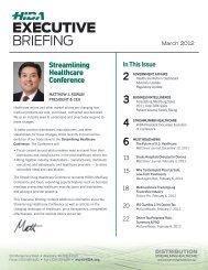 HIDA Executive Briefing (March 2012)