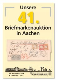 Einzellose - Aix-Phila Briefmarken GmbH
