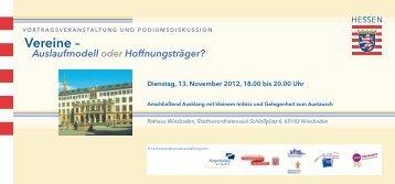 Vereine – - Freiwilligenzentrum Wiesbaden e.V.