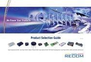econoline - Recom International Power Gmbh