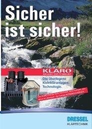 Die überlegene Kleinkläranlagen- Technologie. - UA-TEC GmbH ...