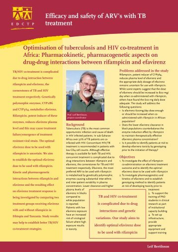 Efficacy and safety of ARV's with TB treatment - EDCTP