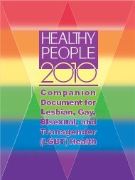 HP 2010 Companion Document-Title Page - National LGBT ...