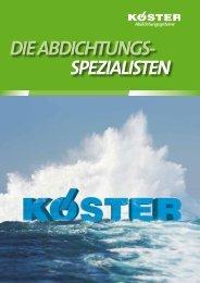 DIE ABDICHTUNGS- SPEZIALISTEN - Köster Bauchemie AG