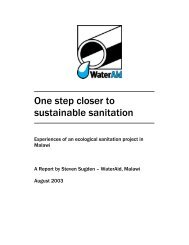 Experiences of an ecological sanitation project in Malawi - WaterAid