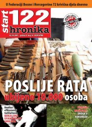 U Federaciji Bosne i Hercegovine 72 krivična djela dnevno