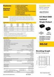 R0.5Z - Recom International Power Gmbh