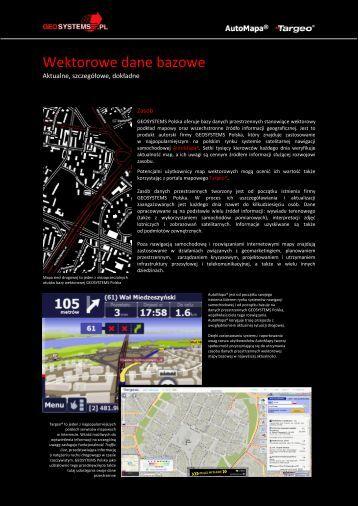 Wektorowe dane bazowe - Geosystems Polska Sp. z o.o., Warszawa