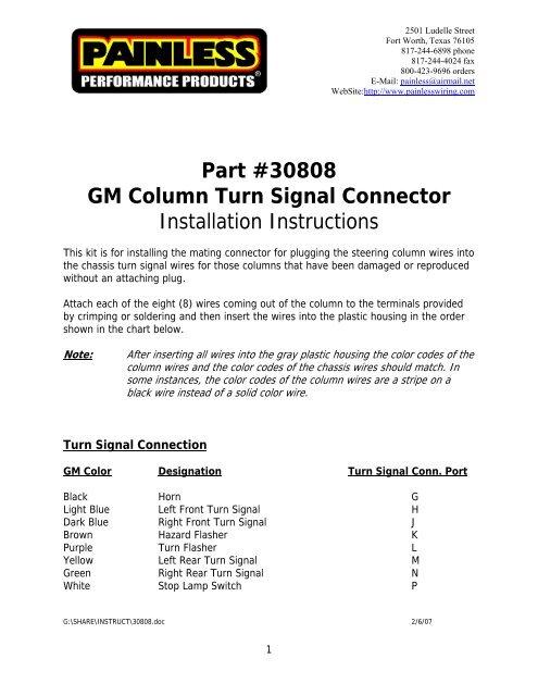 Painles Gm Column Wiring Diagram