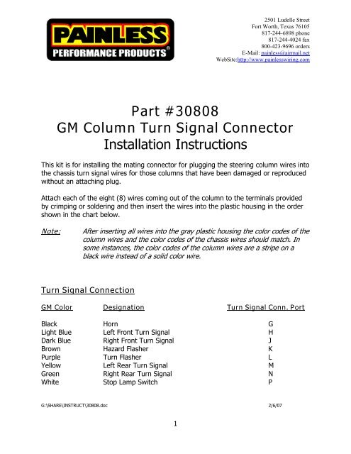 Gm Column Wiring gm steering column neutral safety switch ... on