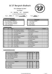 E-Junioren - SC 27 Bergisch Gladbach eV