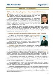 ABA Newsletter August 2012 - Asian Bankers Association