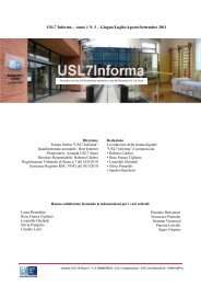 USL7informa - n.3 - Anno 1 - Azienda USL7