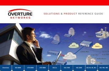 Overview ISG 6000 UTX 8500 UTS 4000 ISG 2x ISG 5100 ISG 2200 ...