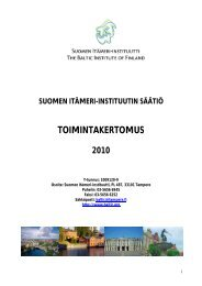 TOIMINTAKERTOMUS - The Baltic Institute of Finland