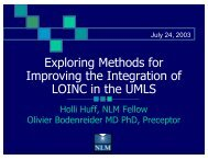 Exploring Methods for Improving the Integration of LOINC in the UMLS